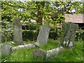 TL3129 : Tombstones in the churchyard of St John the Baptist by Bikeboy