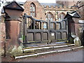 SJ7407 : Memorial gates at St Andrew's Church (1) by Richard Law