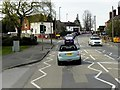 SU9851 : Pedestrian-Controlled Traffic Lights on Worplesdon Road by David Dixon