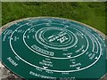 ST8719 : Toposcope on trigpoint, Melbury Beacon by Becky Williamson