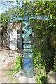 NO2408 : Millennium milepost, Pillars of Hercules by Richard Webb
