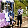 SJ8994 : Boarding the Manchester Train by Gerald England