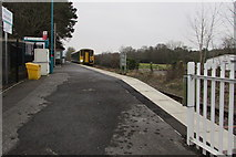 SN6212 : Shrewsbury train about to leave Ammanford railway station by Jaggery