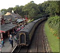 SD3484 : Five coaches at Haverthwaite railway station by Jaggery