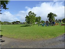 SX5994 : Children's playground, Simmons Park, Okehampton by David Smith