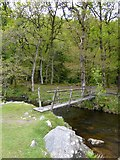 SX6093 : Footbridge over the East Okement River by David Smith