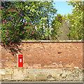 SP2872 : Garden wall, High Street, Kenilworth by Robin Stott