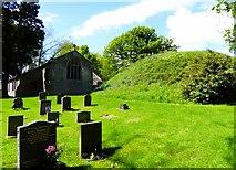 SD5871 : Motte in a churchyard by Philip Platt