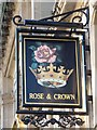 NZ2464 : Sign for The Rose & Crown, Newgate Street, NE1 by Mike Quinn