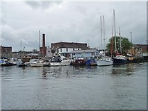ST5772 : Boats moored by Brunel Lock by Christine Johnstone