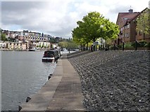 ST5772 : Narrowboat moored at Baltic Wharf by Christine Johnstone