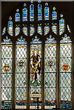 SK9398 : St Andrew stained glass window, St Andrew's church by Julian P Guffogg
