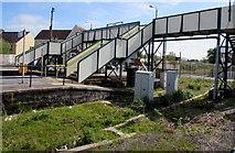 SN1916 : Whitland railway station footbridge by Jaggery