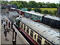 TL0997 : Train leaving Wansford Station by Richard Humphrey