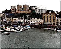 SX9163 : View east from the Old Harbour, Torquay by Jaggery