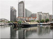 TQ3880 : Boats in Poplar Dock by Stephen Craven