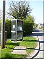 SJ5366 : Telephone box, Willington Corner by David Smith