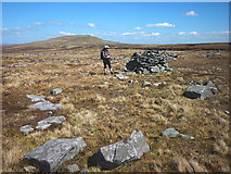 NY7723 : Stone structure, Hilton Fell by Karl and Ali