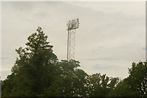 TQ3470 : View of one of the floodlights of the National Sports Centre from Crystal Palace Park by Robert Lamb