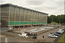 TQ3470 : View of the private racing track at the National Sports Centre #2 by Robert Lamb