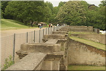 TQ3370 : View along the Crystal Palace terrace from the steps by Robert Lamb