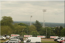 TQ3370 : View of the National Sports Centre floodlights from the Crystal Palace terrace by Robert Lamb