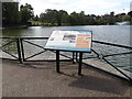 TM1179 : Information Board at The Mere by Adrian Cable