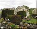 TQ0213 : Amberley Castle - Garden and ruins by Rob Farrow