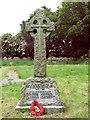 TG2904 : The war memorial in Bramerton by Evelyn Simak