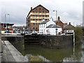 SO8218 : Entrance to Gloucester Docks by Chris Allen