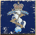 TM1793 : REME badge on FV343 armoured repair vehicle by Evelyn Simak