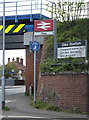 TM1279 : Diss Railway Station signs by Adrian Cable