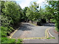 SO1610 : Turning area at the eastern end of Pont-y-gof, Ebbw Vale by Jaggery