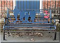 TL2352 : Gamlingay: War Memorial Bench by John Sutton