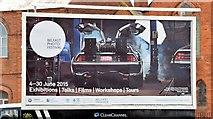 J3574 : DeLorean poster, Belfast (May 2015) by Albert Bridge