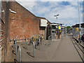 TQ0171 : Egham station: cycle parking (down side) by Stephen Craven