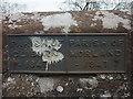 NY5824 : Parish boundary marker, Cliburn Town Bridge by Karl and Ali