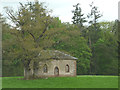 NY6023 : 'Gothick' barn by Morland Beck by Karl and Ali
