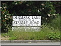 TM1079 : Denmark Lane sign by Adrian Cable