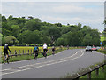 TQ0072 : Cyclists on the A308 by Stephen Craven