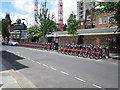 TQ2478 : Santander Cycles, Margravine Gardens by Oast House Archive