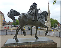 SP4540 : The 'Fine Lady' and Banbury Cross by Mat Fascione