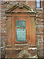NY5824 : Monument, St Cuthbert's Church, Cliburn by Karl and Ali