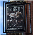 NZ3956 : Sign for the Cooper Rose by JThomas