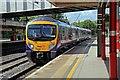 SD4761 : First TransPennine Express Class 185, 185111, Lancaster railway station by El Pollock