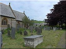 SS6243 : St Thomas, Kentisbury: churchyard (b) by Basher Eyre