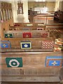 SS6243 : St Thomas, Kentisbury: kneelers and pews (II) by Basher Eyre