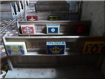 SS6243 : St Thomas, Kentisbury: kneelers and pews (IV) by Basher Eyre