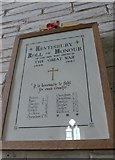 SS6243 : St Thomas, Kentisbury: Roll of Honour (1939-1945) by Basher Eyre