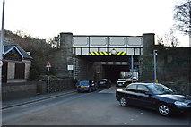 SH5771 : Railway Bridge, Caernarfon Rd by N Chadwick